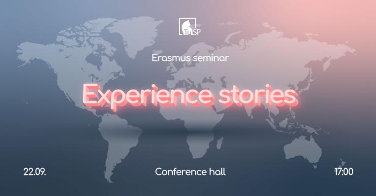 Erasmus Seminar – Experience Stories